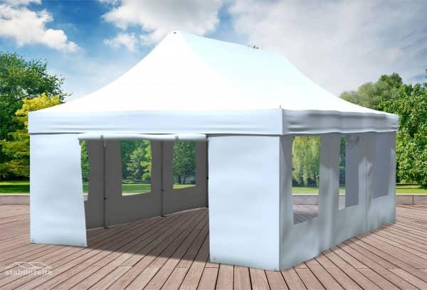 4x6 m Faltpavillon, weiß