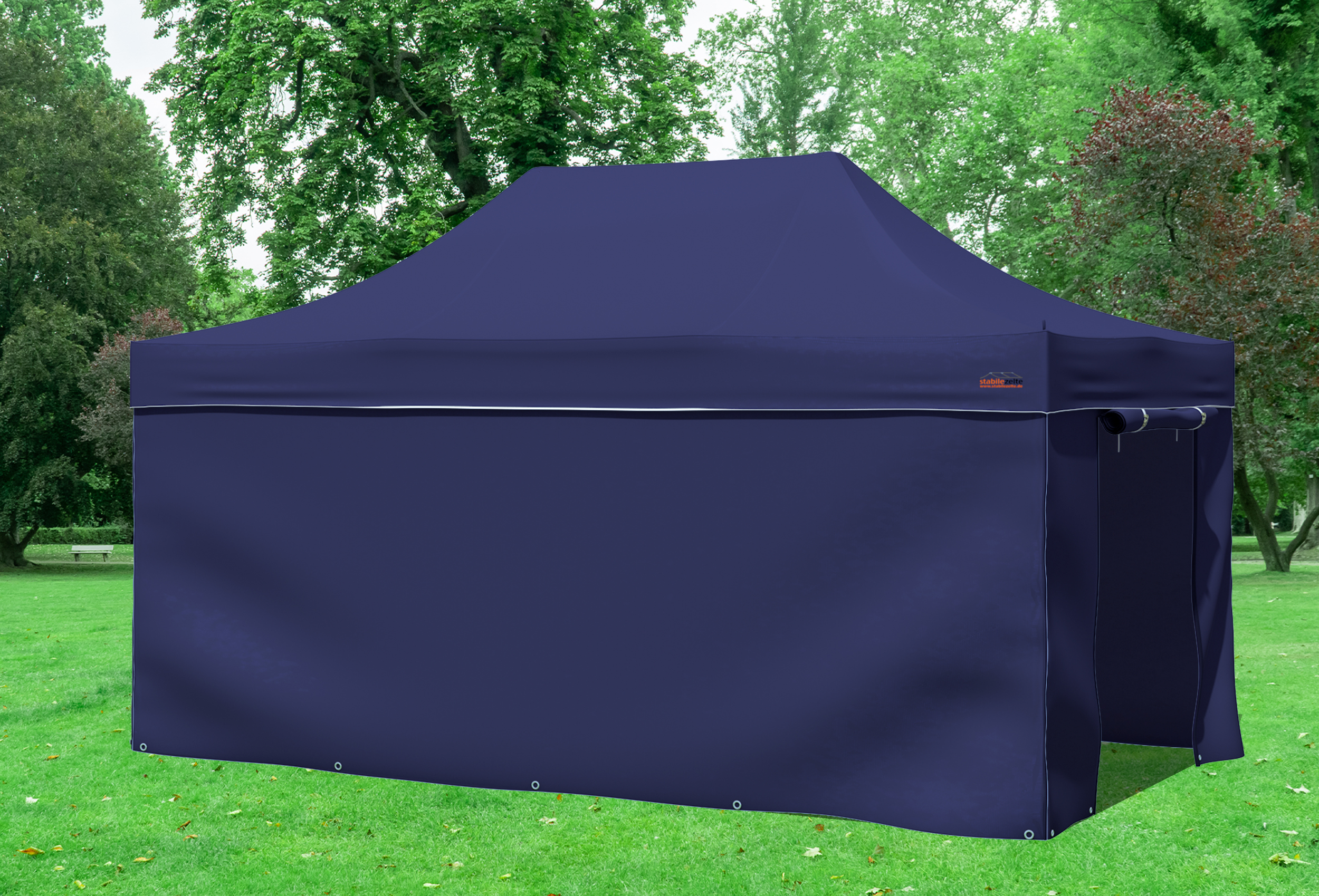 3x4 5 m faltpavillon blau professional serie faltpavillons. Black Bedroom Furniture Sets. Home Design Ideas