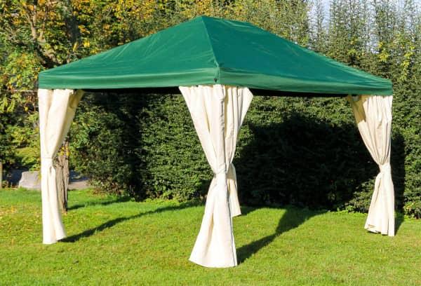 Stabilezelte Pavillon 3x4m grün Polyester Gartenpavillon Sahara wasserdicht 603432