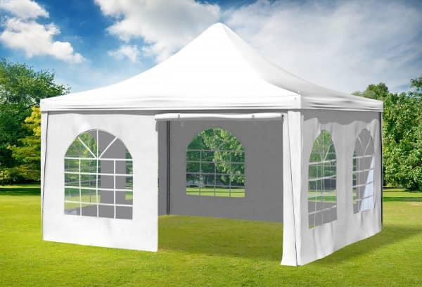 4x4 m Pavillon, PVC Arabica weiß