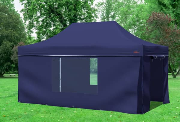 3x4,5 m Faltpavillon, blau