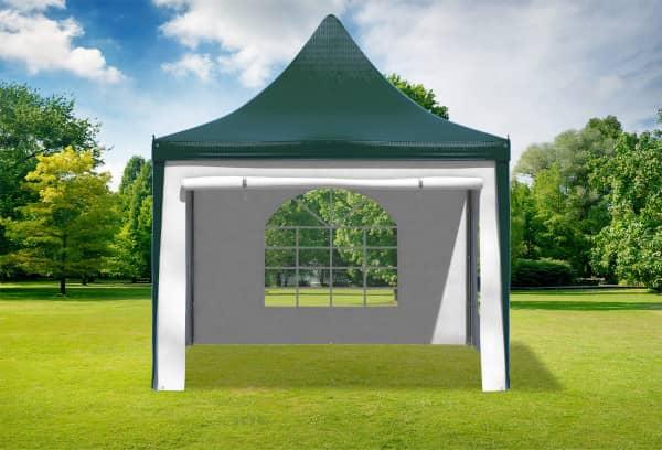 3x3 m Pavillon, PVC Arabica grün weiß