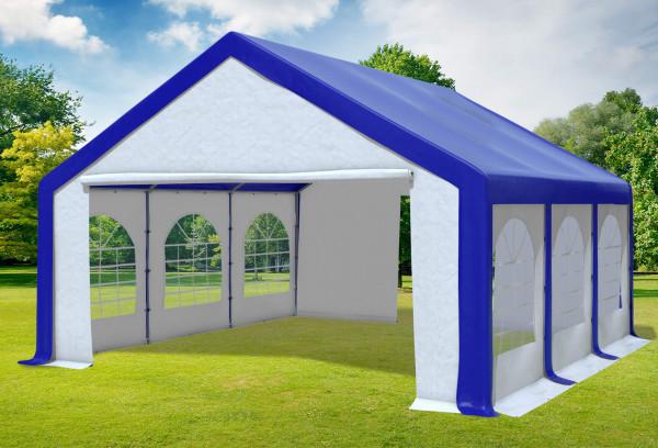 5x6 m Partyzelt, PVC blau weiß