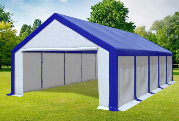 5x10 m Partyzelt, PVC blau weiß