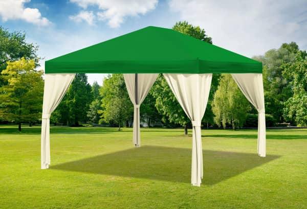 3x4 m Pavillon, Polyester PVC Sahara grün