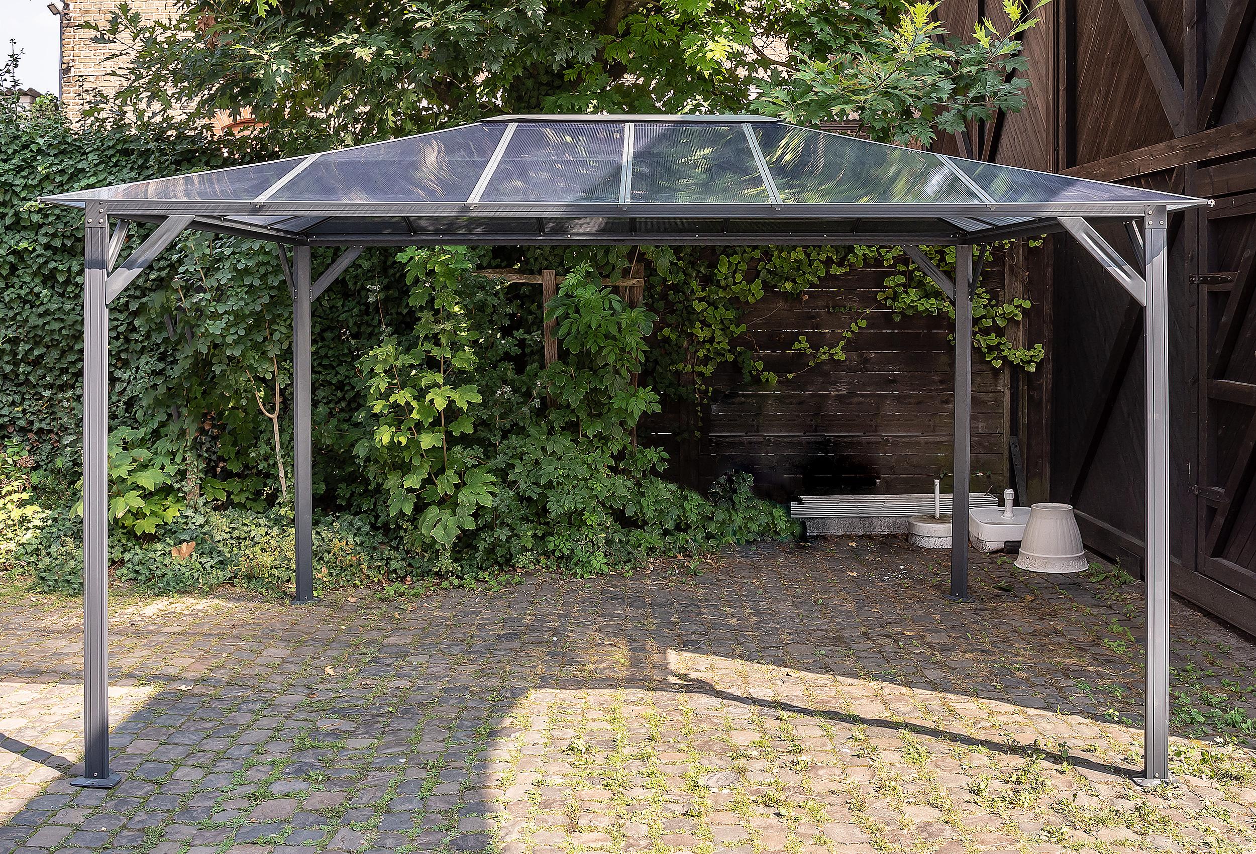 hardtop pavillon 3x3 romance pergola aluminium polycarbonat konstruktion. Black Bedroom Furniture Sets. Home Design Ideas