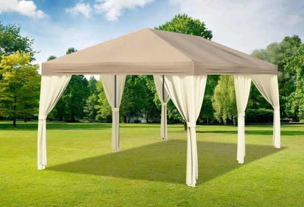 3x6 m Pavillon, Polyester PVC Sahara braun