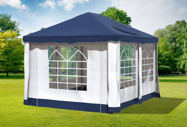 3x4 m Pavillon, Polyester PVC Deluxe blau