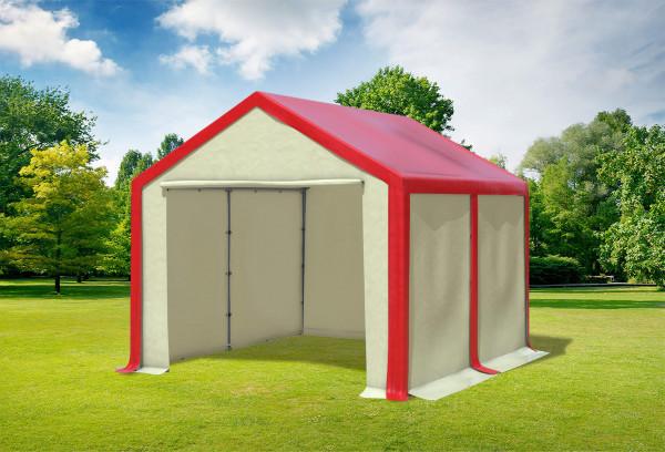 3x4 m Partyzelt, PVC rot beige