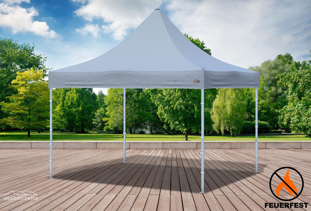 stabilezelte 3x3 m Faltpavillon Prof.+ ALU FR PVC 550 g/m² - 100 % wasserdicht - Grau