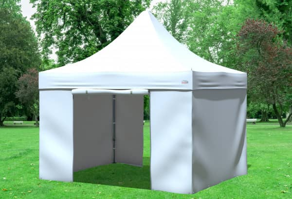 3x3 m Faltpavillon, weiß