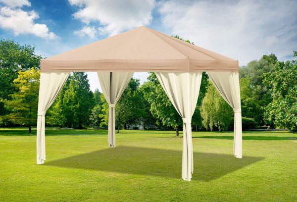 3x3 m Pavillon, Premium PVC Sahara braun