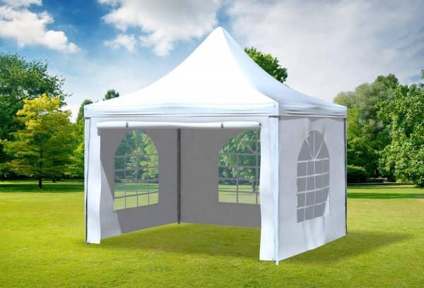 3x3 m Pavillon, PVC Arabica weiß