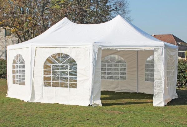 5x6,8 m Pavillon, PVC Arabica weiß