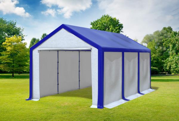 3x6 m Partyzelt, PVC blau weiß