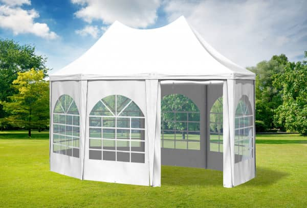 3x4,1 m Pavillon, PVC Arabica weiß