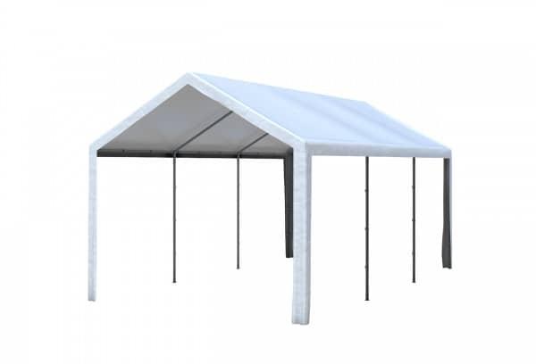 3x6 m Dachplane PE weiß inkl. Zubehör