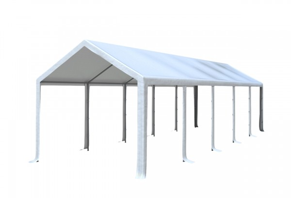 3x10 m Dachplane PVC weiß inkl. Zubehör