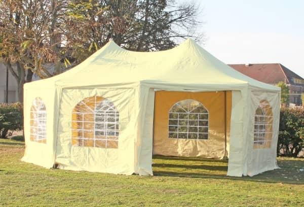 5x6,8 m Pavillon, PVC Arabica beige